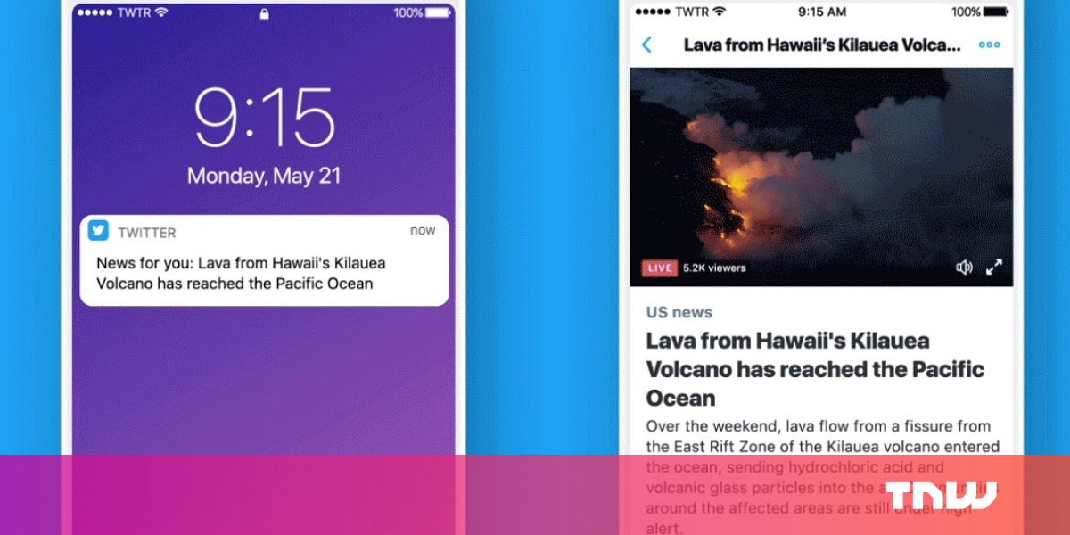 photo image Twitter wants to send you personalized news notifications