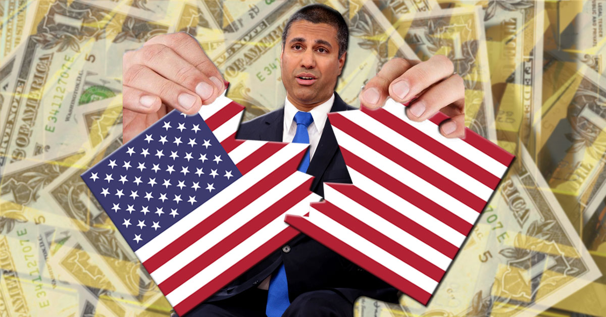 Ajit Pai wants to abolish federalism so Verizon and AT&T can throttle your data