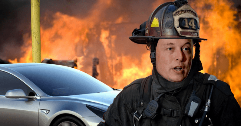 Tesla factory becomes literal dumpster fire after recycling machinery goes up in flames