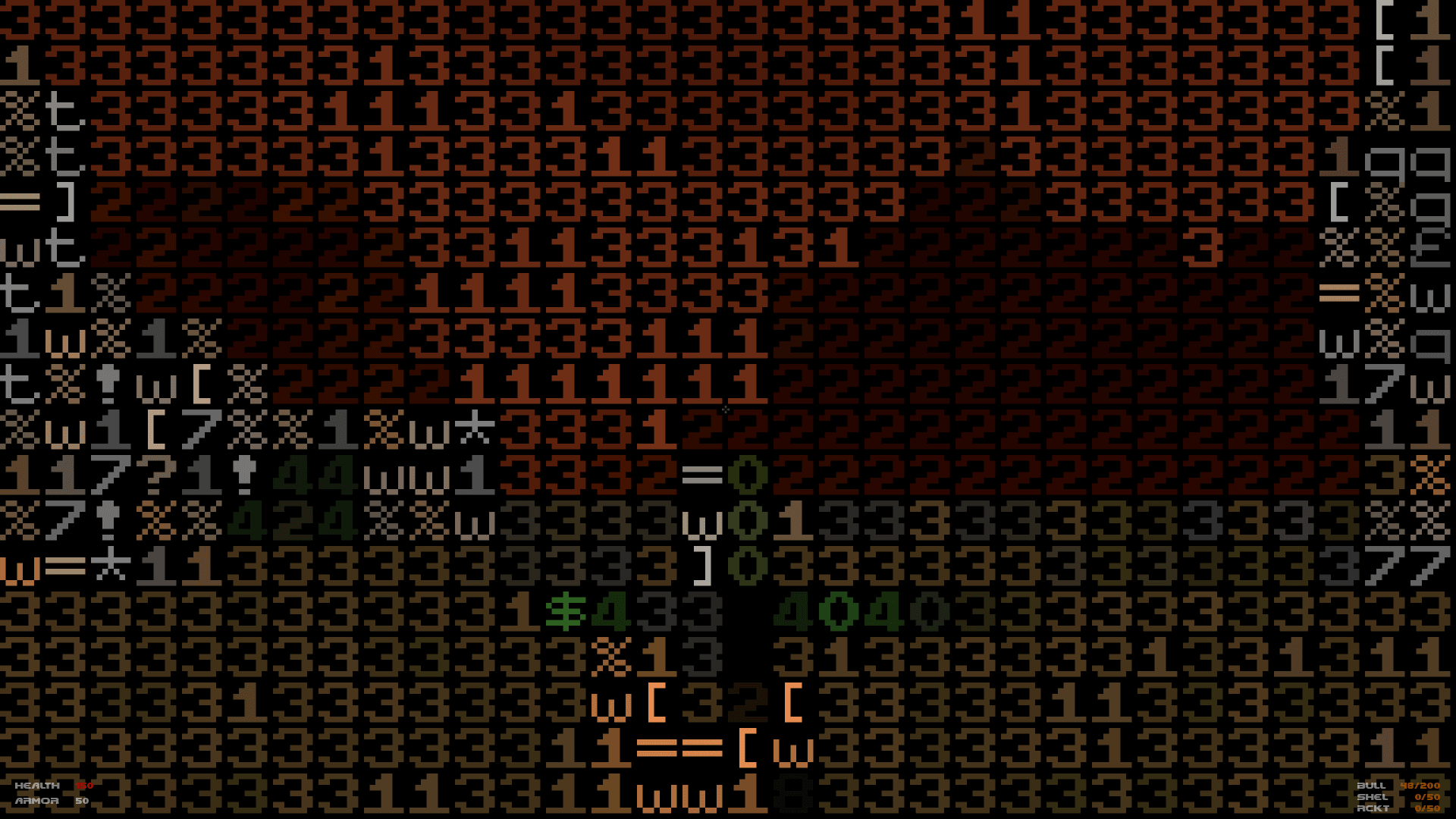 DOOM in ASCII mode is equal parts fun and frustrating