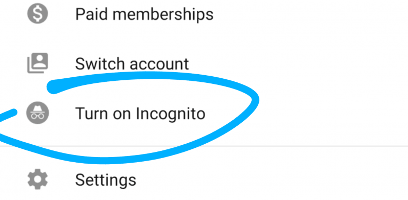 YouTube's Android app is rolling out an incognito mode