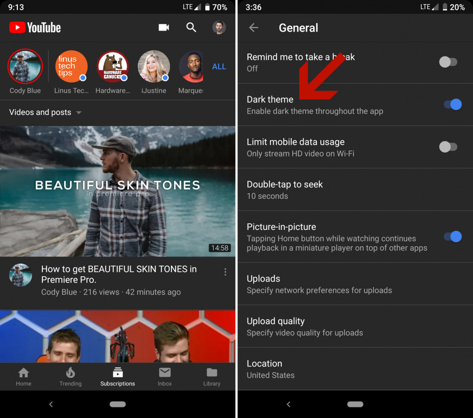 Youtubes Android App Is Finally Getting A Dark Theme