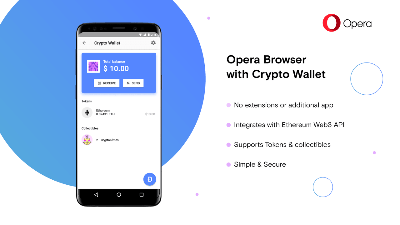 Opera is expanding its suite of cryptocurrency tools with a built-in