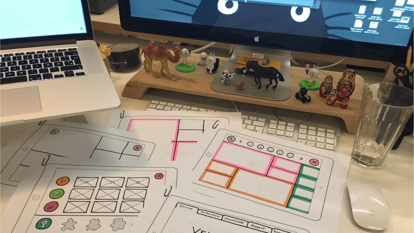 Hand-drawn wireframes makes designing for kids more fun