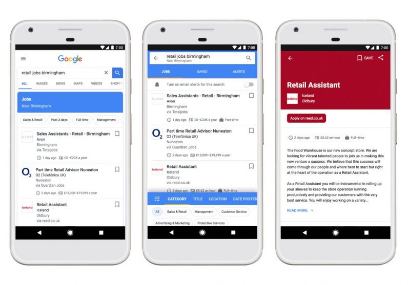 Google brings job hunting service to the UK