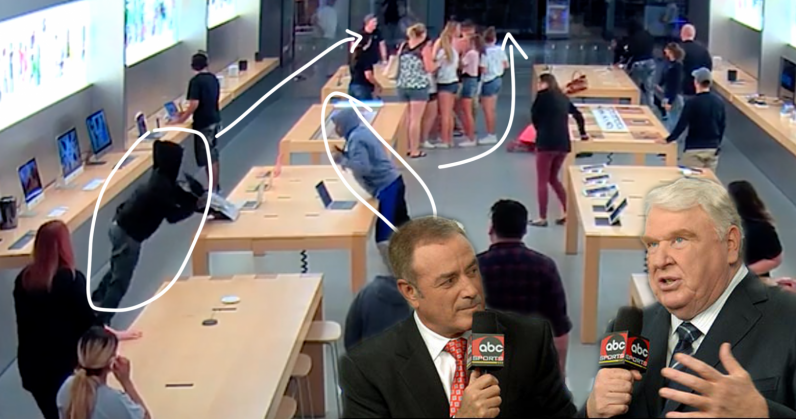 Watch: Apple Store heist nets thieves over $27k in MacBooks and iPhones