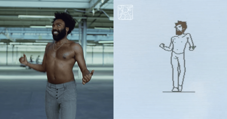 photo image Digital Artist painstakingly recreates Childish Gambino's 'This is America' on an ancient Macintosh SE