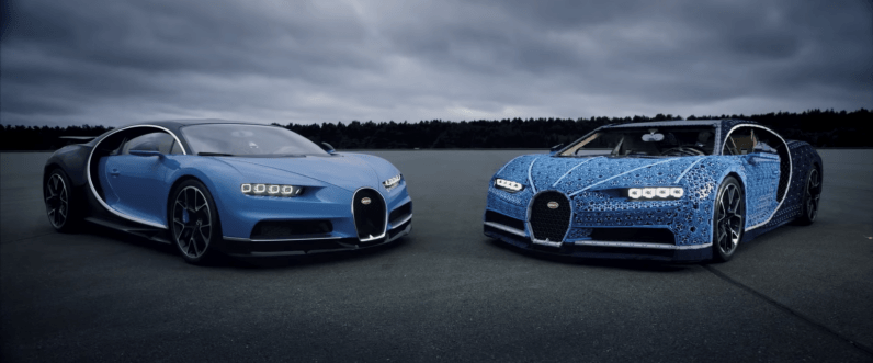 Lego built a driveable Bugatti Chiron out of blocks, and it's amazing