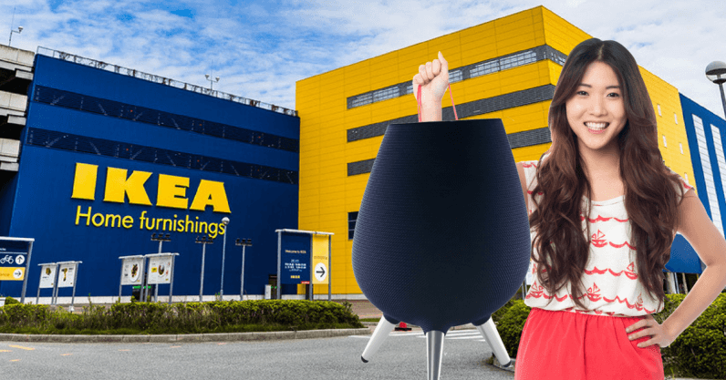 Which inexpensive IKEA stool does the Galaxy Home look like?