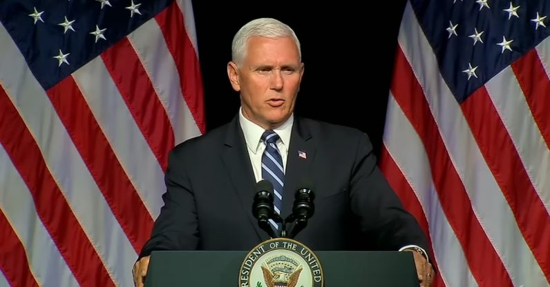 Vice Pres. Pence outlines plan for new Space Force by 2020
