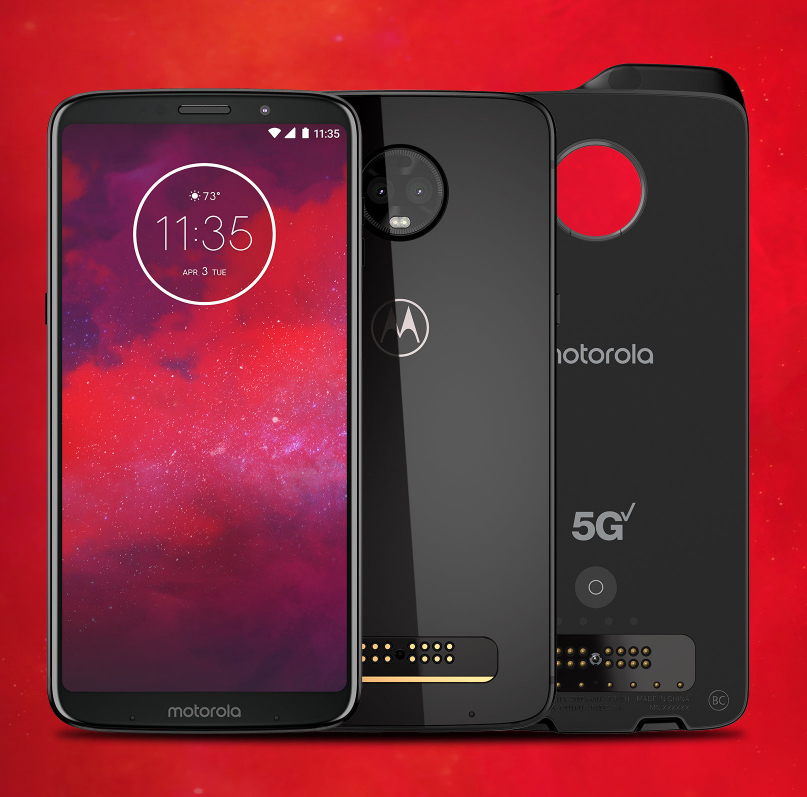 The recently launched Moto Z3 will be the first of the company's Z line to support the upcoming 5G mod with Verizon next year