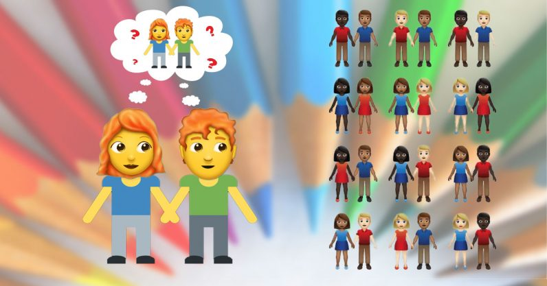 Emoji update proposal includes 55 different couples — where are the gingers?