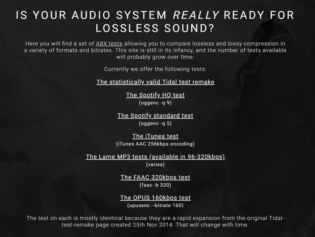 Prove your audiophile skills with this blind test on