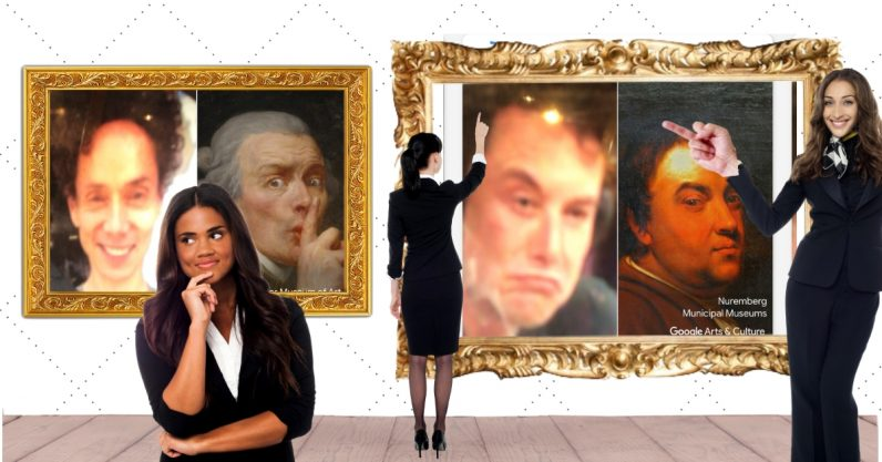 We used Google Arts & Culture's selfie app to make the internet's Shit Museum
