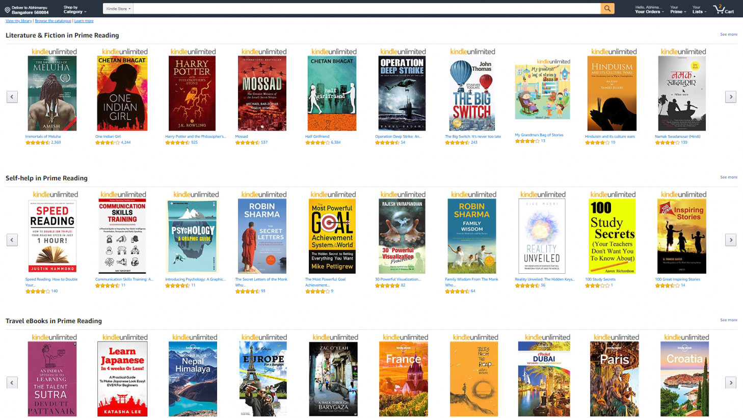 Amazon Brings A Half Decent Library Of Free Ebooks To India For