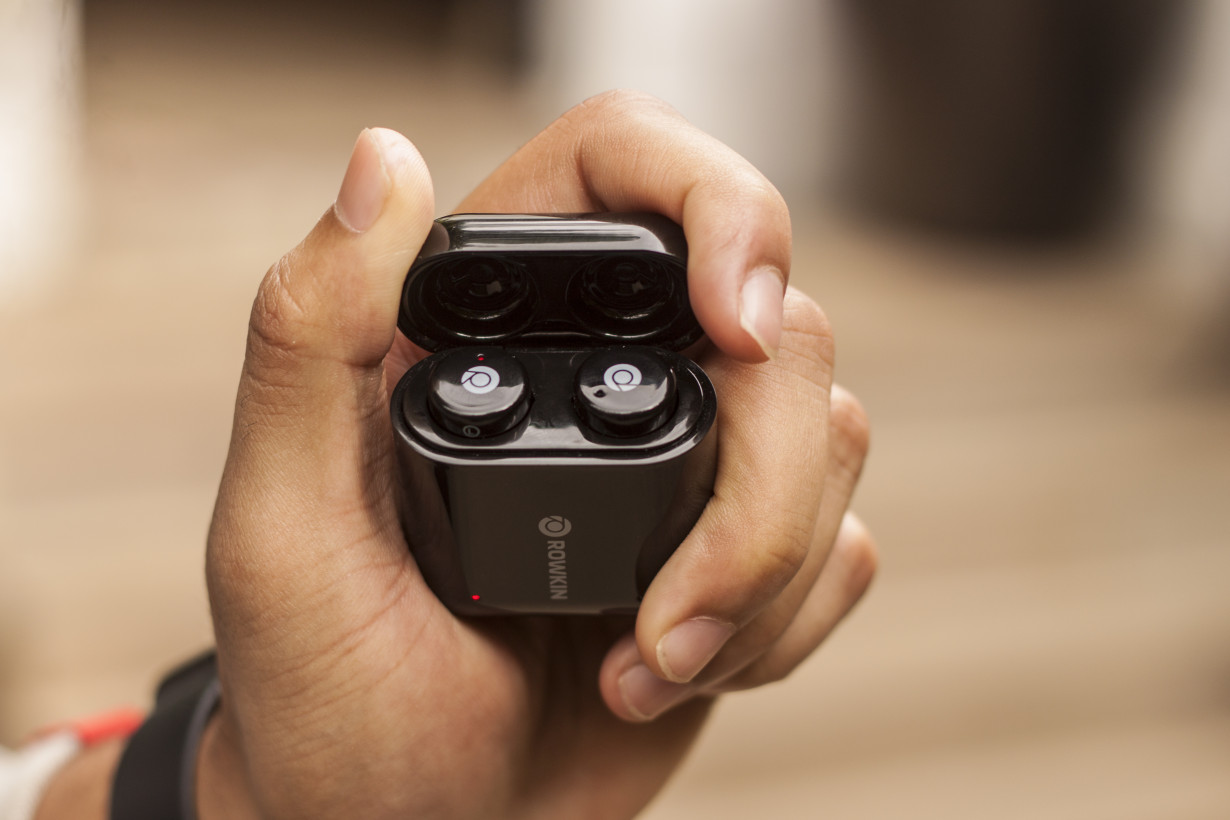 The Micro Touch features a compact case that's identical in size and shape to that of the Apple AirPods