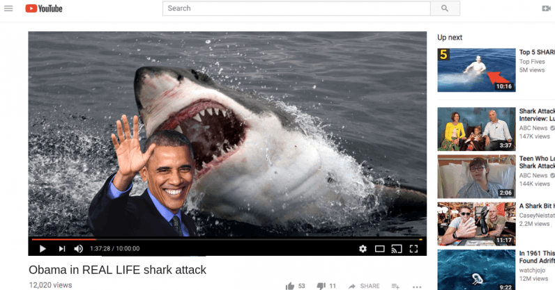 Obama in REAL LIFE shark attack 796x417 - Fairies and deepfakes: a brief history of visual trickery