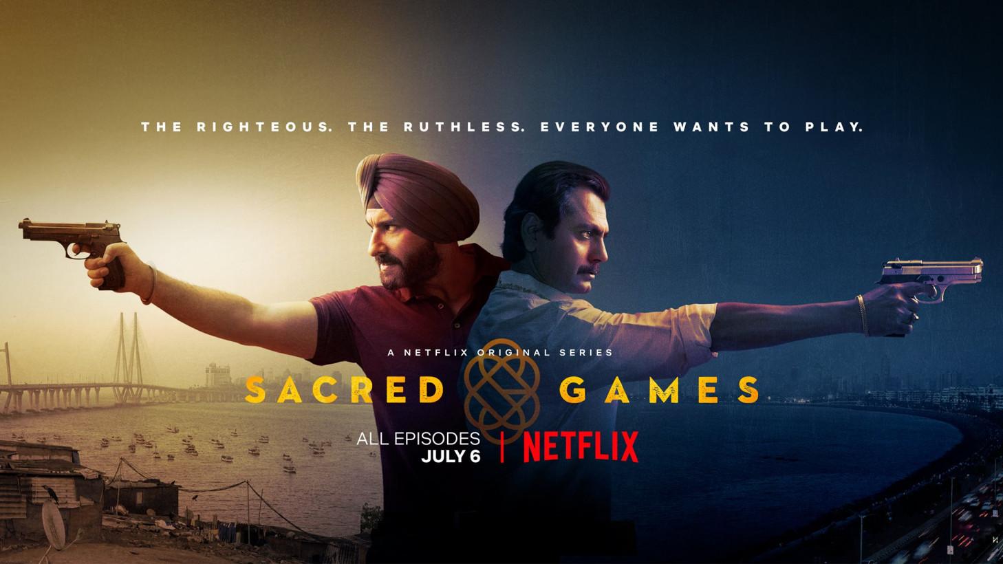 A promo image for Netflix' Sacred Games
