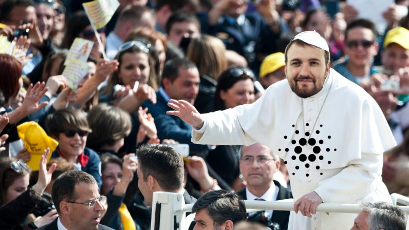 cardanopope 796x448 - Cardano talks blockchain innovation with Mongolian government