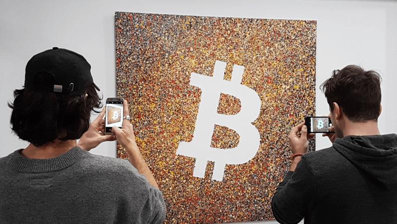 cryptocurrency bitcoin art 796x450 - French artists celebrate 10 years of Bitcoin with cryptocurrency art exhibition