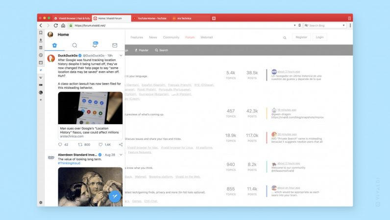 Vivaldi's massive update brings tab management and a