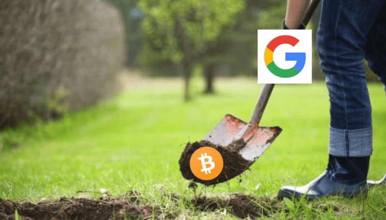 Google dig Bitcoin 796x454 - Google mocks miners, says cryptocurrency 'isn't real money'
