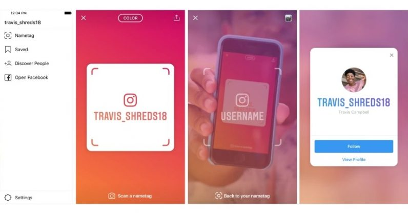 Image result for Instagram nametags let you find users without remembering their names