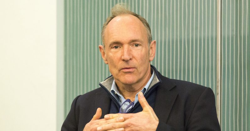 Sir Tim Berners Lee 796x419 - Sir Tim Berners-Lee's new startup wants to give people control over their data again