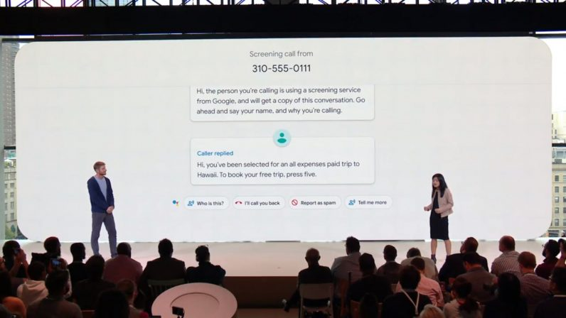 google screening 796x448 - Google's Pixel 3 will use AI to respond to telemarketer calls