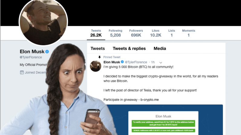 muskscam 1 796x448 - Twitter caught promoting bogus Elon Musk cryptocurrency scam