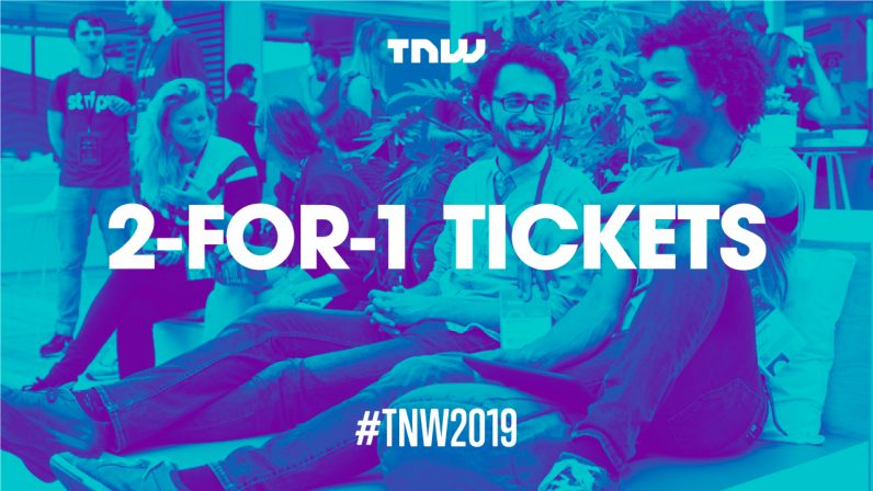 For a limited time, you can get a 2-for-1 discount on TNW2019 tickets