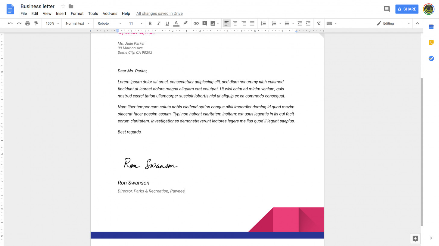Once you've got a scanned signature, it's easy to add them to documents