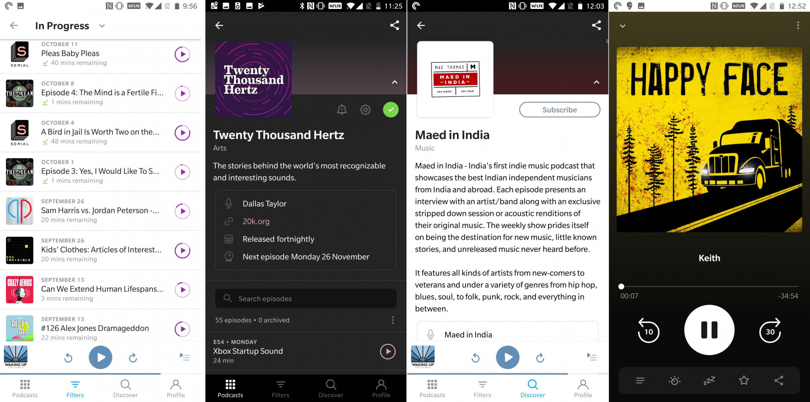 It's now a lot easier to browse through podcasts and navigate around the Pocket Casts interface