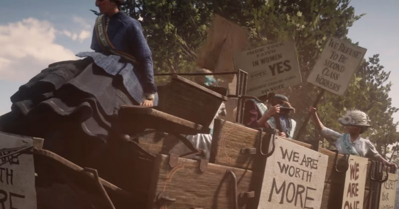 RDR2 Suffragettes 796x417 - Killing a suffragette in Red Dead Redemption 2 says more about you than Rockstar