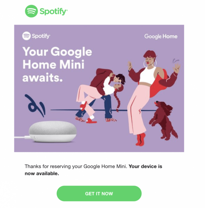 Spotify is giving away free Google Home Mini speakers to some paid