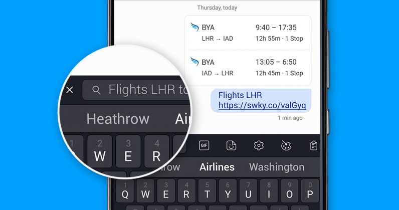 5595f068660 SwiftKey adds a surprisingly handy search bar to its Android keyboard