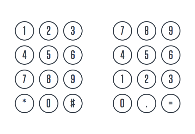 Here's why telephones and calculators use different numeric keypads