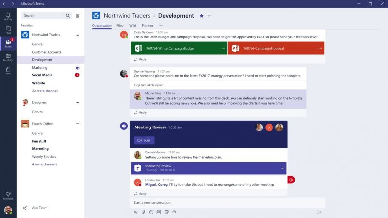 Microsoft Teams is growing ridiculously fast