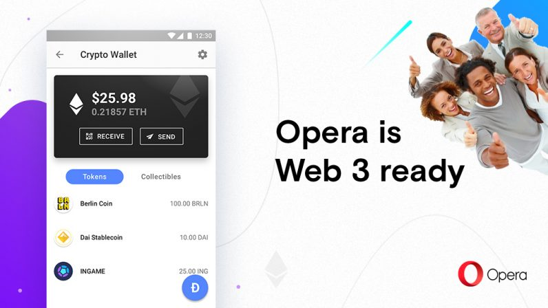 Opera launches its cryptocurrency-oriented browser for the decentralized web