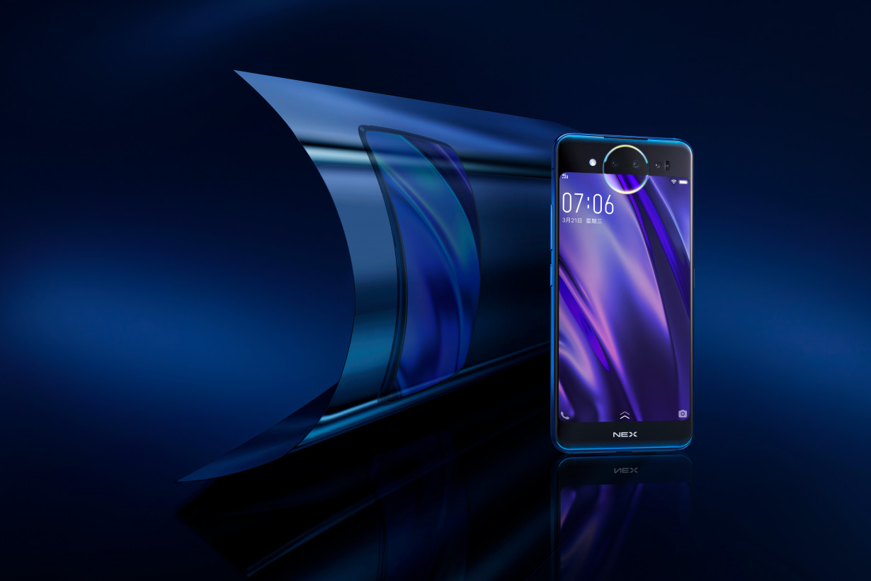 The Nex 2's rear panel features a 5.49-inch display, along with three cameras and a 'Lunar Ring'