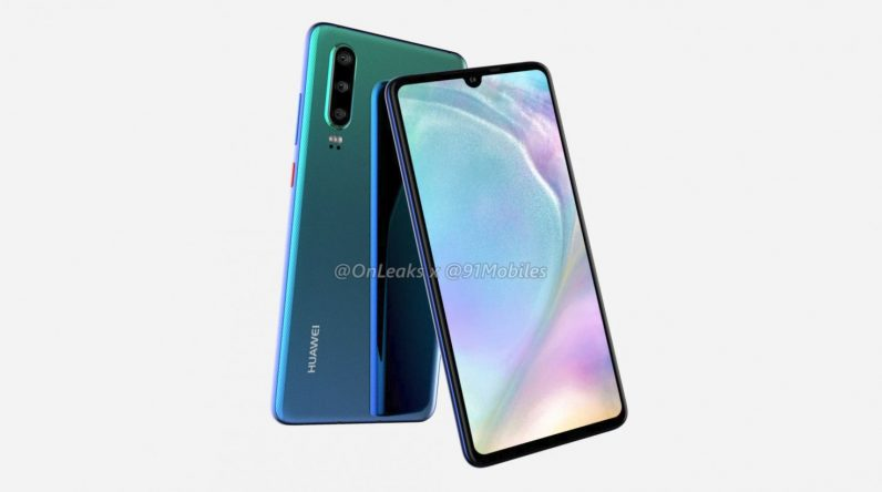 Huawei P30 shows up in renders… and brings back the headphone jack?