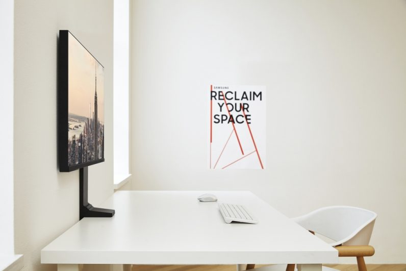 Samsung's clever new monitor frees up desk space without a wall mount