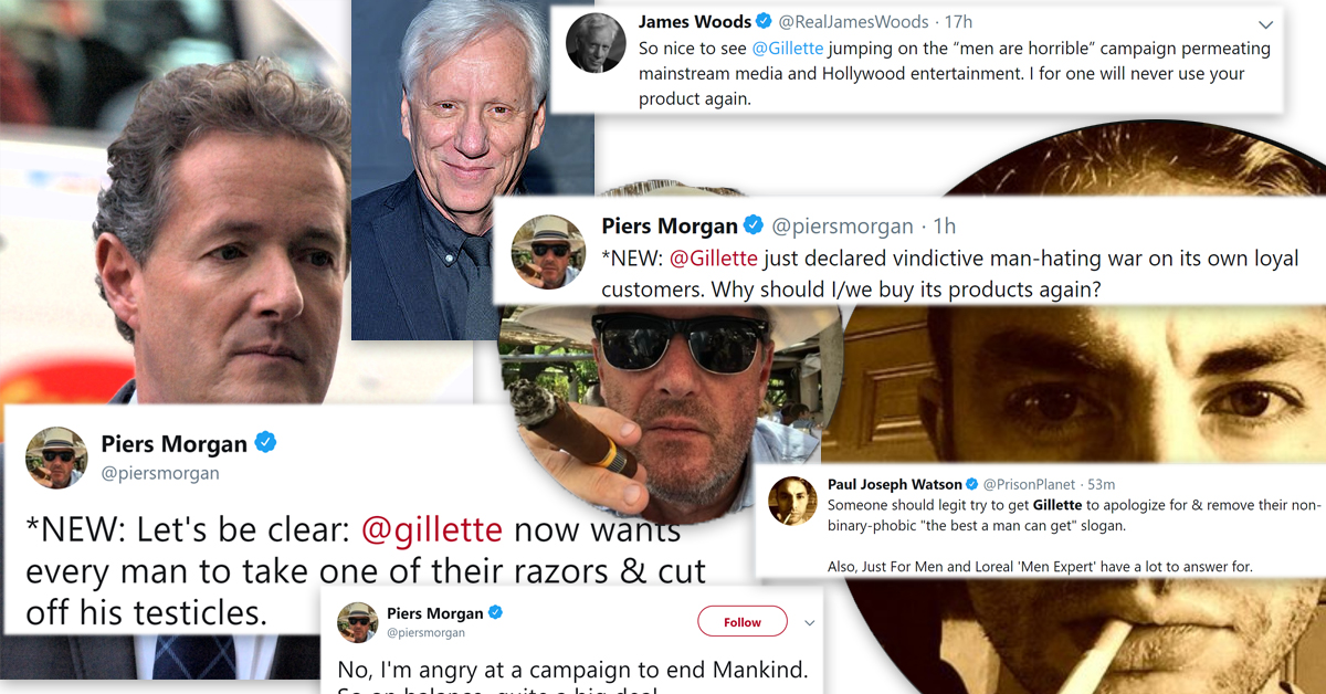 Gillette triggers Twitter's right-wing elite with 'toxic