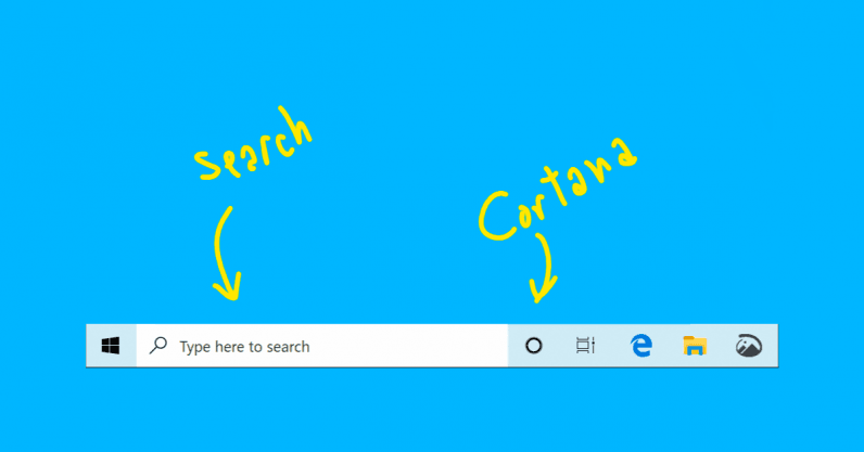 Windows 10's search bar and Cortana split up on good terms