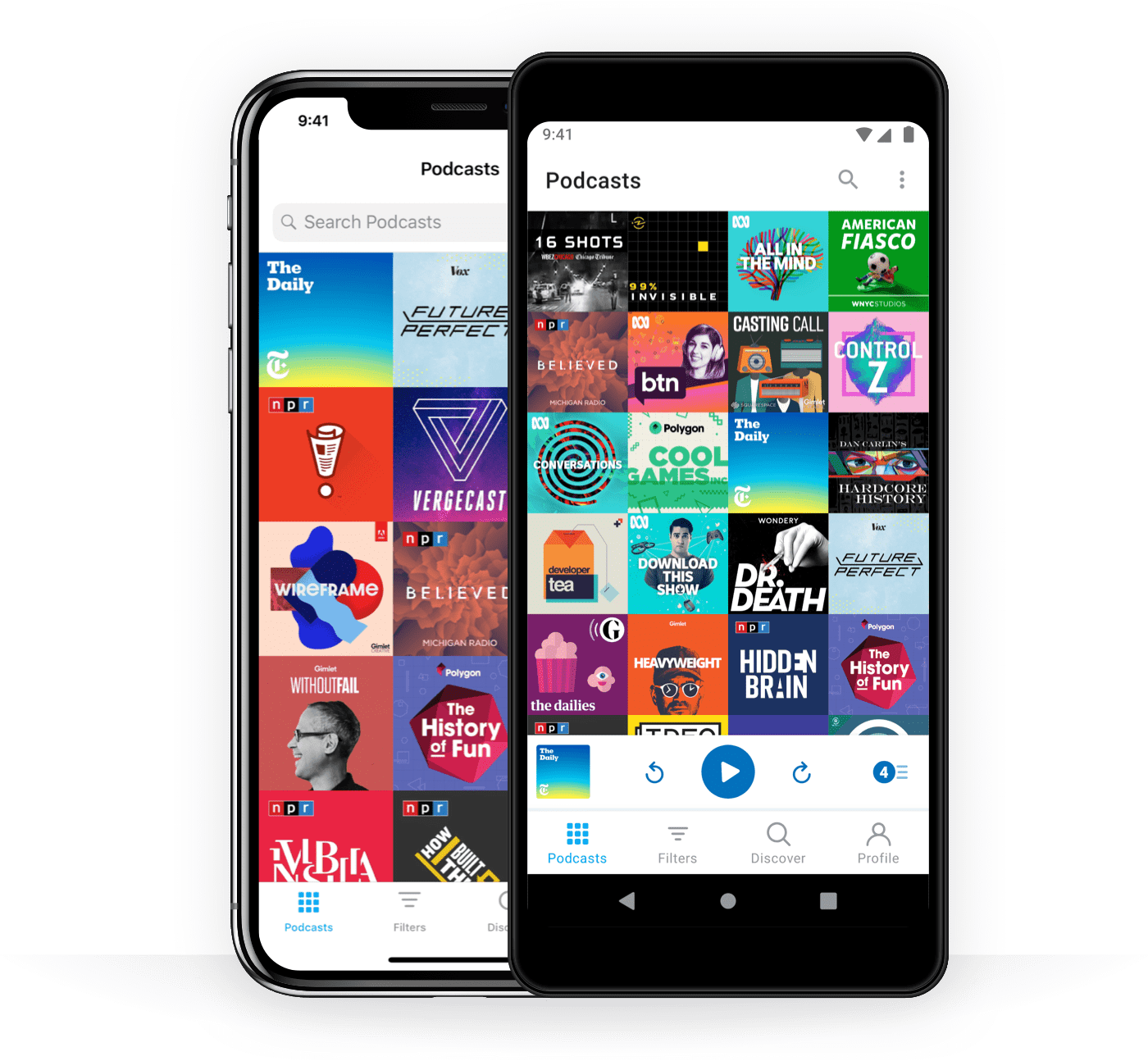 Standalone podcast players like Pocket Casts let you listen to virtually any show on the planet