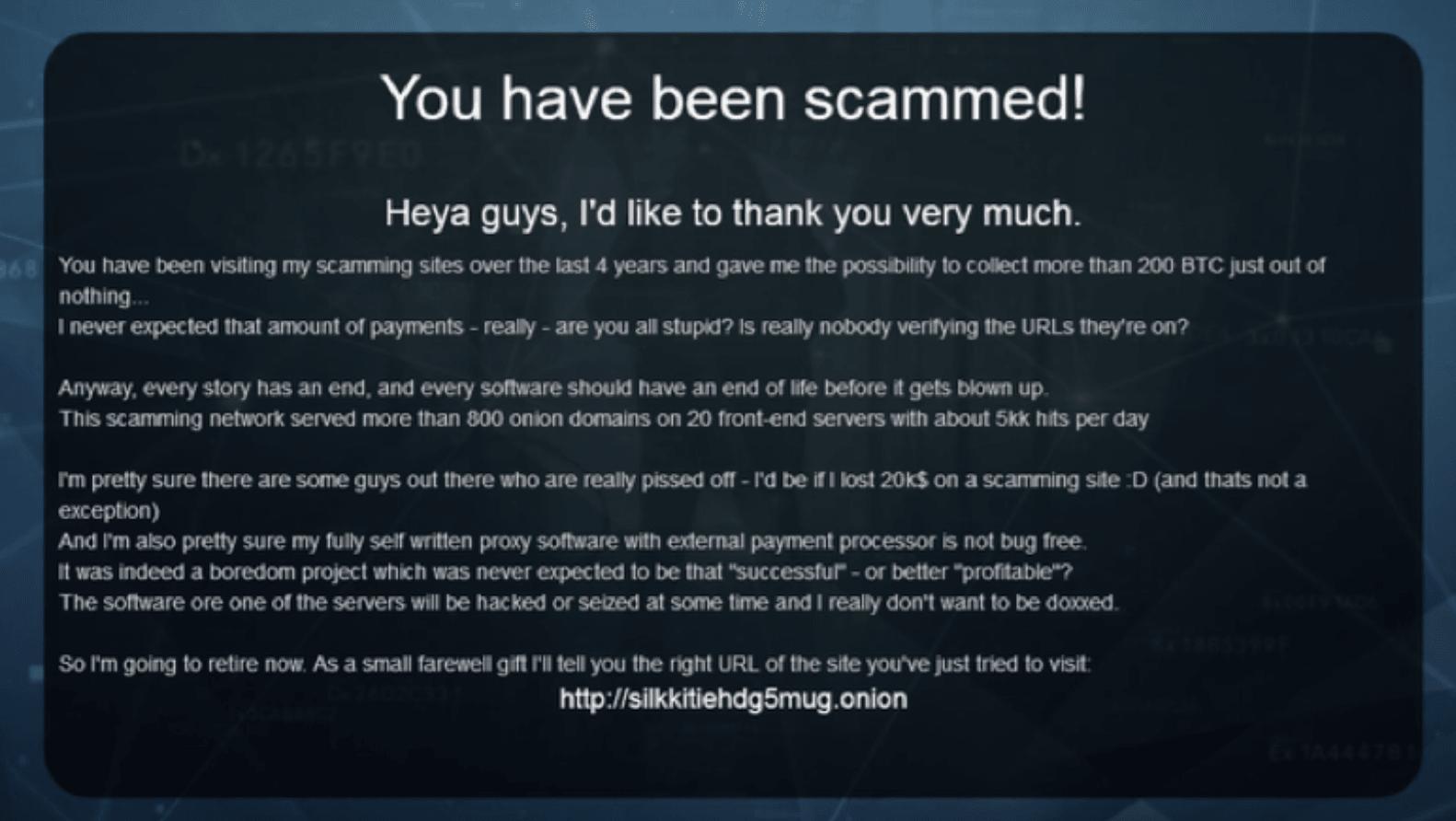 bitcoin scammer