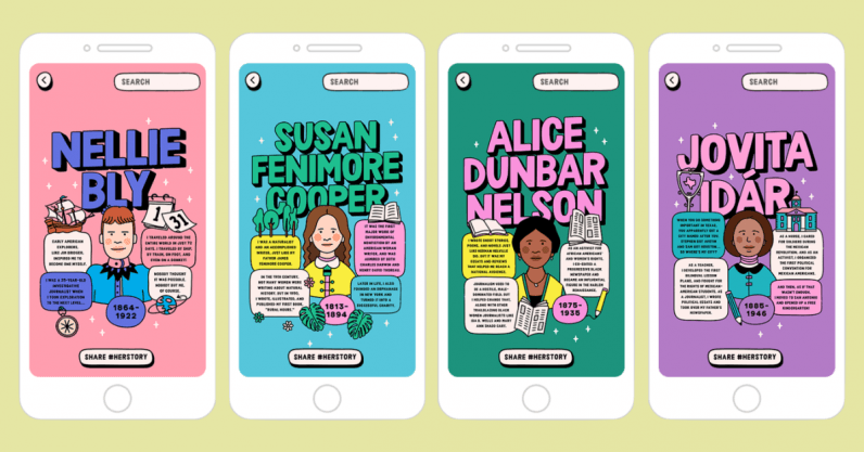 Lessons in Herstory uses AR to rectify women's place in history books