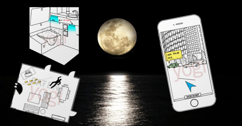 Full moon patents: Uber's pick-up AR, Microsoft's crime scene AI, and Boeing's toilet