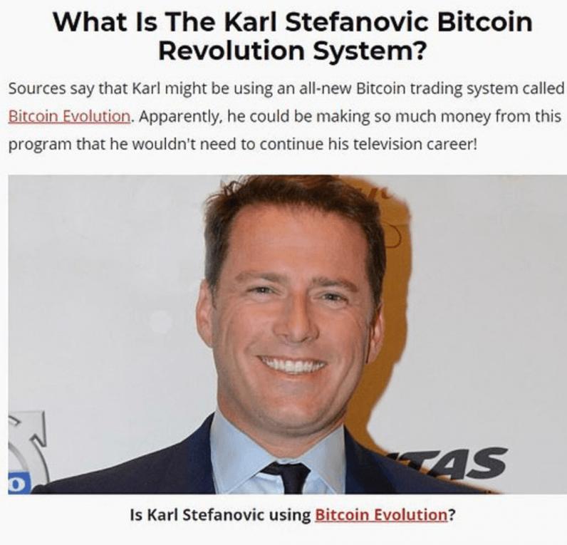 karl stefanovic bitcoin trading