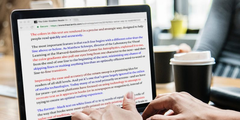 BeeLine uses a colorful trick to boost your reading speed by up to 20%
